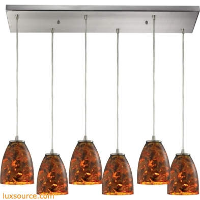 Abstractions 6 Light Pendant In Satin Nickel 10460/6RC-LS