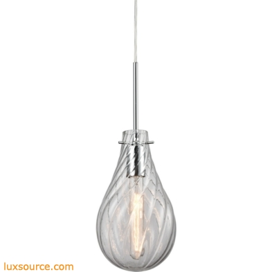 Cirrus 1 Light Pendant In Polished Chrome 10463/1