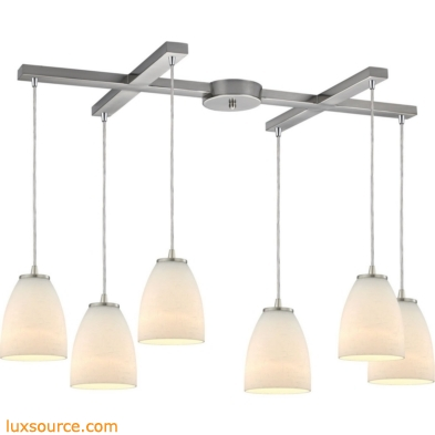 Sandstorm 6 Light Pendant In Satin Nickel 10466/6