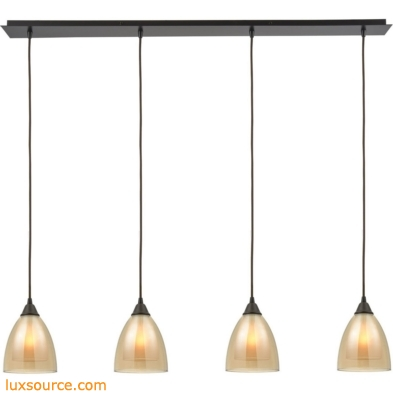 Layers 4 Light Linear Pendant In Oil Rubbed Bronze 10474/4LP
