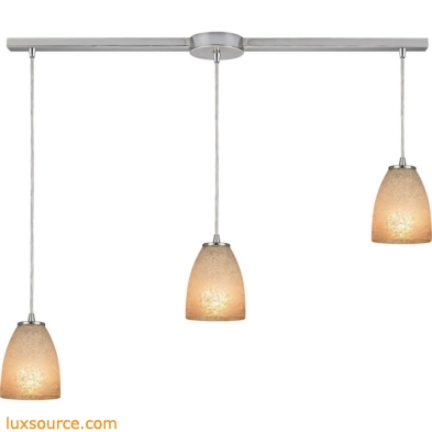 Sandstorm 3 Light Pendant In Satin Nickel 10476/3L