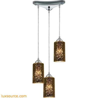 Illusions 3 Light Pendant In Polished Chrome 10505/3