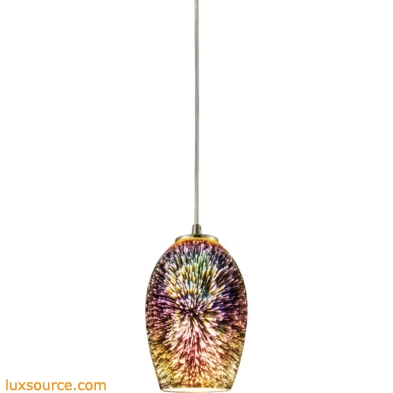 Illusions 1 Light Pendant In Satin Nickel 10506/1