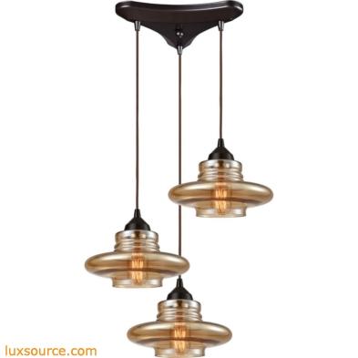 Orbital 3 Light Pendant In Oil Rubbed Bronze 10535/3