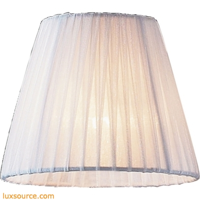 Renaissance Mini Shade In White Pleated Fabric 1058
