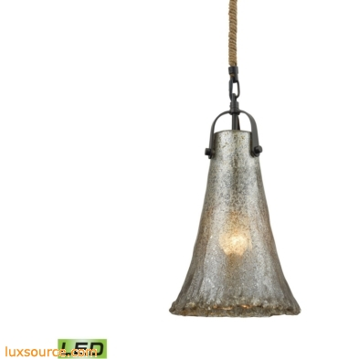 Hand Formed Glass 1 Light LED Pendant In Oil Rubbed Bronze 10651/1-LED