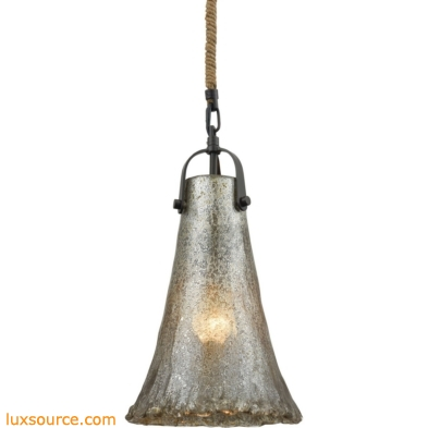 Hand Formed Glass 1 Light Pendant In Oil Rubbed Bronze 10651/1