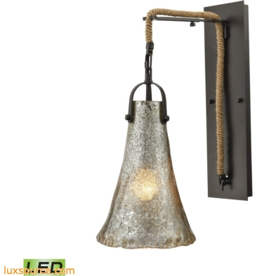 Hand Formed Glass 1 Light LED Wall Sconce In Oil Rubbed Bronze 10651/1SCN-LED