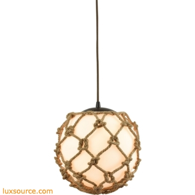 Coastal Inlet 1 Light Pendant In Oil Rubbed Bronze