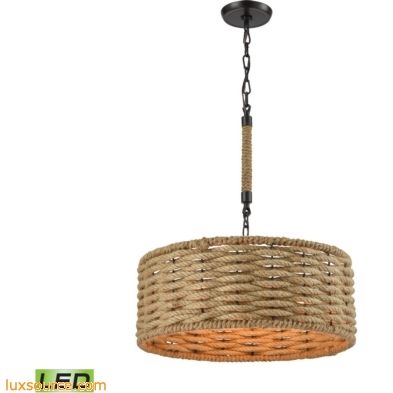 Weaverton 3 Light LED Chandelier In Oil Rubbed Bronze