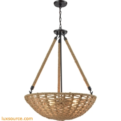 Weaverton 4 Light Chandelier In Oil Rubbed Bronze