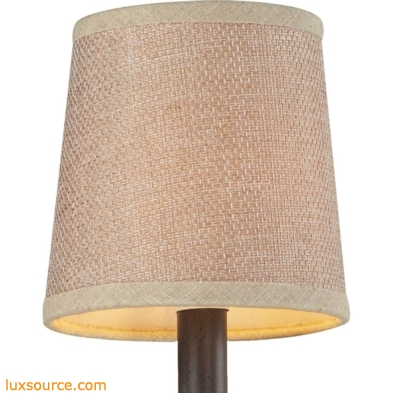 Veronica Mini Shade In Tan Textured Linen
