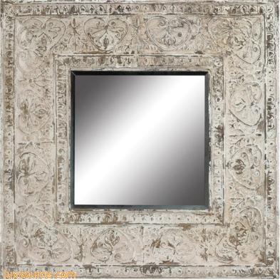 Embossed Metal Frame Mirror