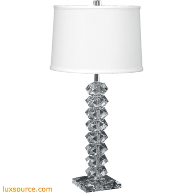 Diamond Cut Crystal Table Lamp