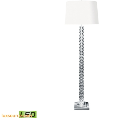 Diamond Cut Crystal LED Floor Lamp