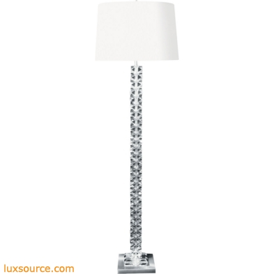 Diamond Cut Crystal Floor Lamp