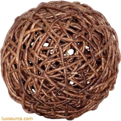 Woven Decorative 9-Inch Sphere