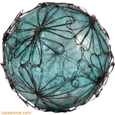 Camile Decorative 4-Inch Sphere In Antique Turquoise Artifact