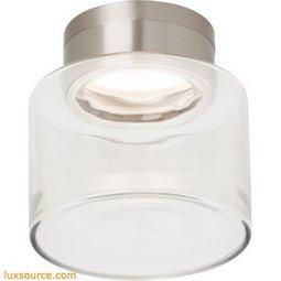 Casen Drum Flush Mount Ceiling - Clear - LED