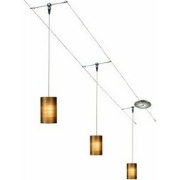 12 Foot 150 Watt Cable Kit with 3 Fab Pendants in Almond