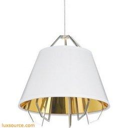 Mini Artic Pendant - Gloss White - Gold Shade - LED 90 CRI 3000K