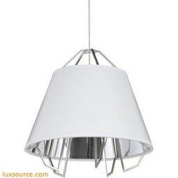 Mini Artic Pendant - Gloss White - Silver Shade - LED 90 CRI 3000K