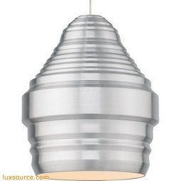 Mini Ryker Pendant - Brushed Aluminum - Halogen