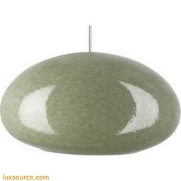 River Rock Pendant Oblong Oval - Blue Slate