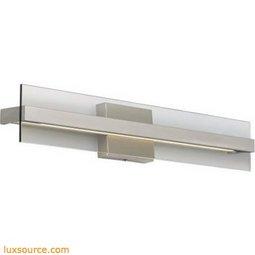 Windrush Wall - 12 Inch - Modern Detail/Smoke Glass - LED 80 CRI 2400K