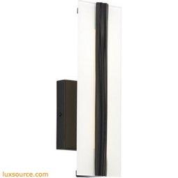 Windrush Wall - 12 Inch - Water Detail/Smoke Glass - LED 80 CRI 2400K
